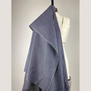 fair trade handwoven cotton blue black pinstripe