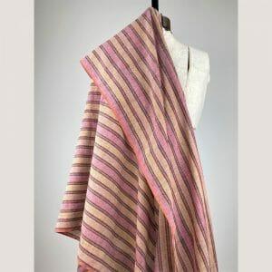 fair trade handwoven cotton multi-red wide stripe