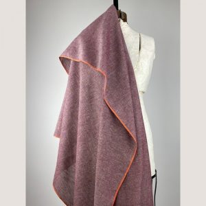 sustainable handwoven cotton red with multi-colour texture