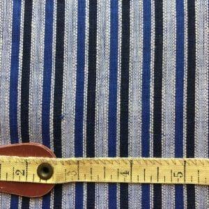 fair trade handwoven cotton blue black stripe