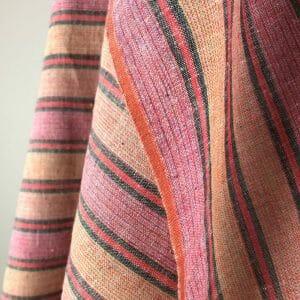 fair trade handwoven cotton multi red wide stripe