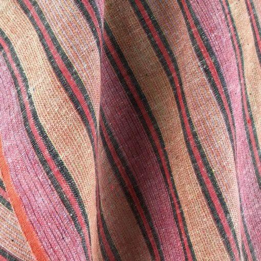 fair trade handwoven cotton red wide stripe