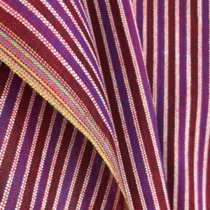 sustainable handwoven cotton red stripe