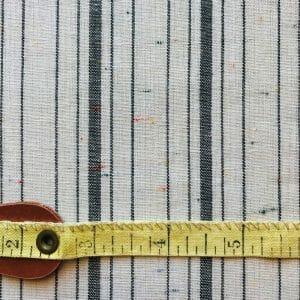 sustainable white black stripe cotton