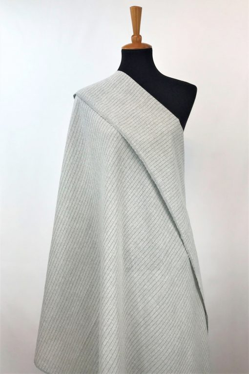 ethical textiles recycled yarn grey natural stripe