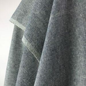 eco friendly fabric recycled yarn deep blue