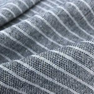 eco friendly fabric recycled yarn deep blue grey