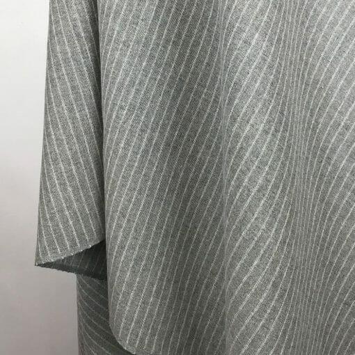 eco friendly fabric recycled yarn grey stripe