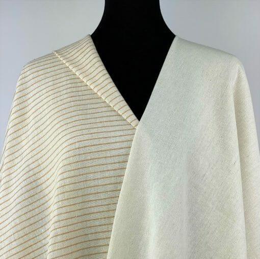 eco-friendly recycled yarn off white yellow ochre