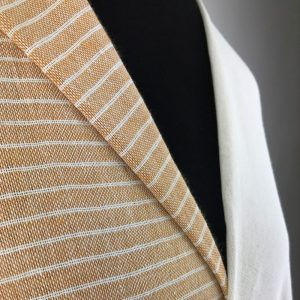 eco friendly recycled yarn yellow ochre off white