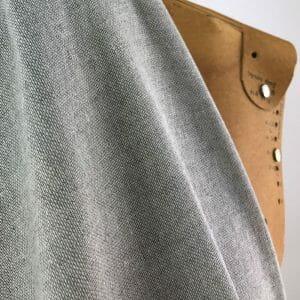 ethical fabric recycled yarn heather grey