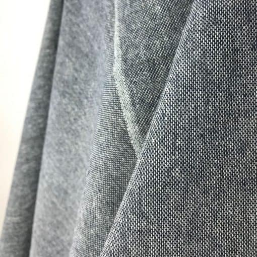 fair trade fabric recycled yarn midnight blue