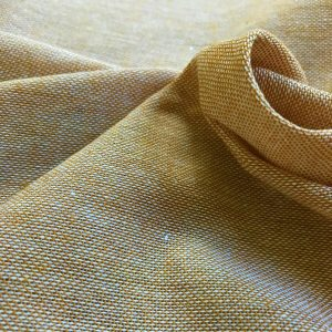 handwoven fabric recycled yarn yellow natural