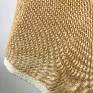 handwoven fabric recycled yarn mustard