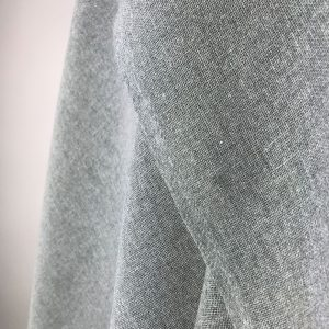 handwoven textiles recycled yarn mid grey