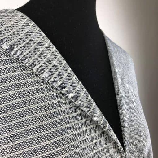 sustainable fabric recycled yarn deep blue grey