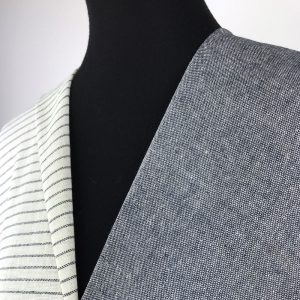 sustainable fabric recycled yarn off white deep blue