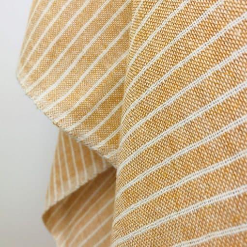 sustainable fabric recycled yarn sunshine yellow natural