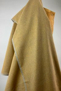 sustainable textiles recycled yarn deep ochre