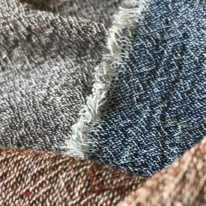 Natural dye fabrics with seeds, indigo and coconut